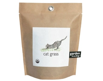 Cat Grass Garden-in-a-Bag – Grow Kit – Cat gift – Kitten – Cat Lover – Wheat– Eco-friendly – Small Spaces - Mothers Day - Meow