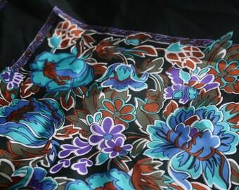 vintage square scarf - floral print