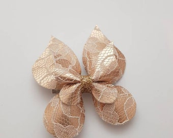 Champagne, Butterfly, Headband, Fabric, Bow, Glitter, Hair Accessories, Clips, Accessories, Hair, Ribbon, Bows.