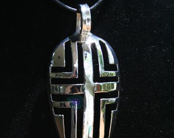 Echoed Cross, Silverware Spoon Pendant