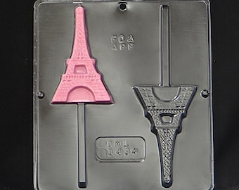 Eiffel Tower Lollipop Chocolate Candy Mold 3434