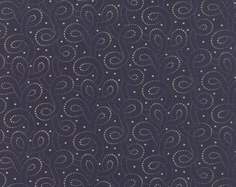 Polka Dots and Paisleys Polka Dot Swirls Deep Blue - 1/2yd
