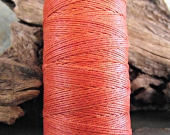 3 Ply Orange Waxed Irish Linen Thread 10 yards WIL-26,orange linen thread,bookbinding thread,waxed linen thread,orange irish linen