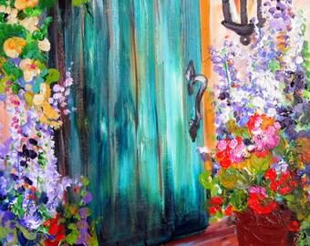 Landscape painting 18 x 24 Door Art Fine art by Elaine Cory
