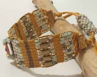 Gold summer cuff bracelet