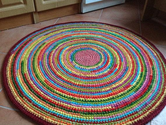 Spaß bunten häkeln runden teppich auf bestellung