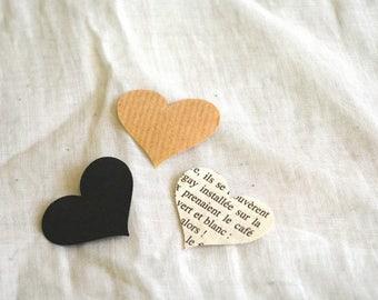 Hearts paper set