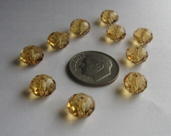 Swarovski Crystal rondelle 8mm Topaz
