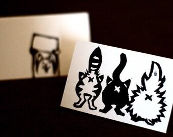 Calendrier de poche - Linogravure