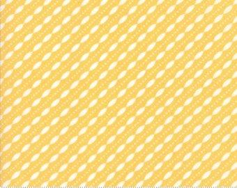 Petal Stripe in Buttercup by Corey Yoder... Lulu Lane .. Moda fabrics ..  29026 13 half  yard cut