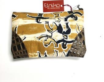 African fabric makeup case, cosmetic bag,  travel organizer, toiletry pouch, pensil case, etnika accessoires, gift for her, bags and purses