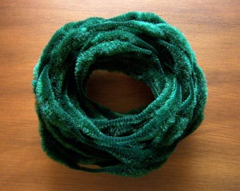 "Vintage 3"" Bump Chenille Forest Green 9 Yards"