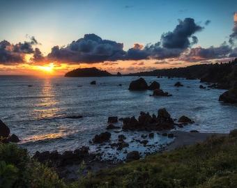 Trinidad Head Sunset, Landscape Photography, Metal Print, Large Prints, Humboldt County CA, Sunrises, Rivers, DJerniganPhoto