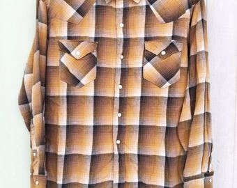 VINTAGE 60's PENNY'S FOREMOST Western Shirt