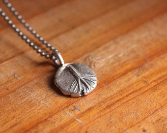 1.5g cannabis leaf peace sign necklace | recycled sterling chain + fine silver PMC | OOAK