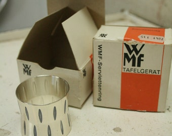 Two boxed WMF napkin rings