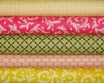 Heather Bailey Fabric, Half Yard Bundle, Bijoux Collection, 5 Yards Total