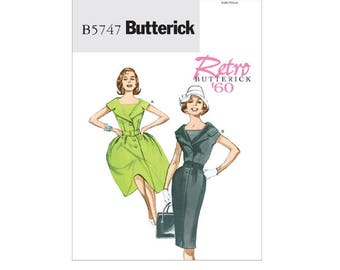 Butterick 5747 - Petite Notch Collar Dresses and Belt [Out of Print]