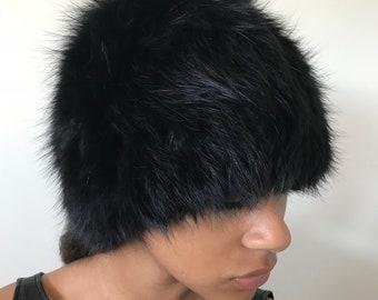 Hat natural fox fur