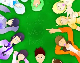 Color Wheel Family