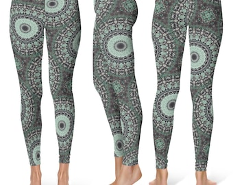 Burning Man Clothing Women, Hooping Clothes, Festival Leggings, Dance Mandala Yoga Pants