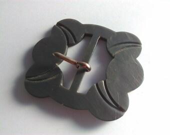 6.3 x 5.3cm, Vintage, buckle, grey buckle, art deco buckle, art deco, buckle, lucite buckle, belt buckle, vintage belt buckle, vintage #9