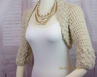 Ivory Bridal Shrug Off White Wedding Shrug Bridesmaids Shoulder Cover Wedding Jacket Bridal Bolero Spring Wedding Fall Wedding
