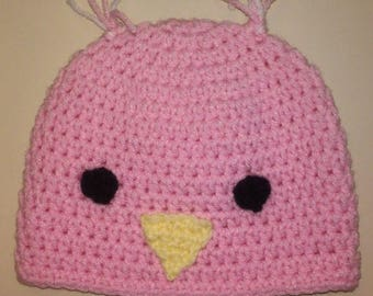Baby Chick Hat, Baby Bird Hat, Crochet Baby Hat, Easter Hat, First Easter, Spring Hat