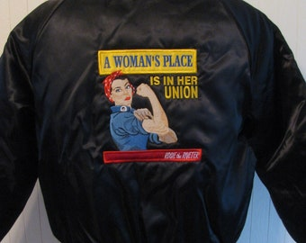Satin, Rosie the Riveter Jacket