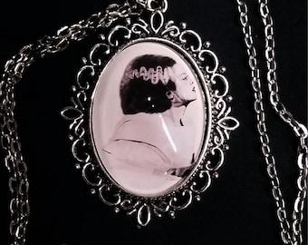 Frankenstein's Bride  Necklace - Original Graphite Portrait