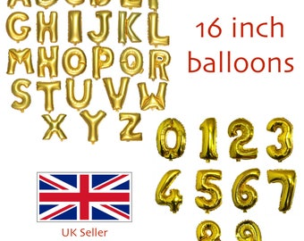 Number Letter Balloons 16 inch Birthday Party Celebration Wedding Balloon