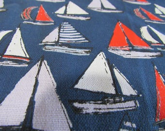 SAILBOATS  TABLE  RUNNER, Red White and Blue,  6 feet long