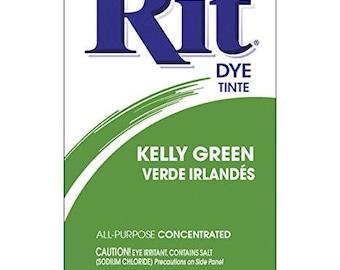 KELLY GREEN Rit Dye Fabric Dye Rit Dye Powder Fabric Dye Clothing Dye