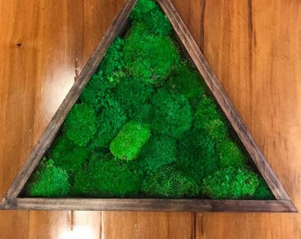 Maintenance Free Triangle Bun Moss