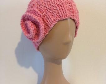 Ladies pink beanie