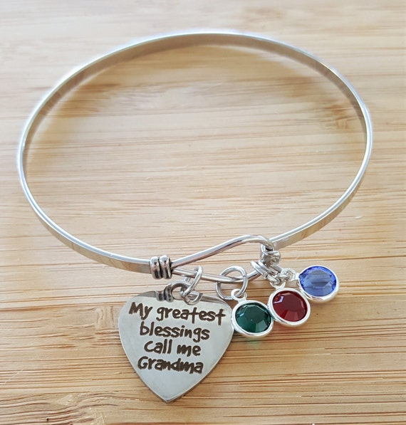 Grandma Bracelet Gifts for Grandma Grandma Gift Grandma Jewelry Gift from Grandkids Personalized Grandma Gifts My Greatest Blessings