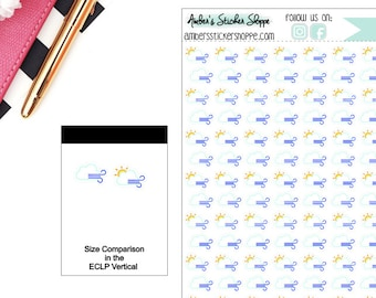 Windy Weather Planner Stickers