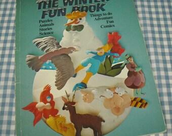 the winter fun book, vintage 1980 children's activity book