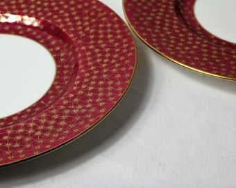 Plate, Minton,  Red and Gold, 2 plates, Vintage