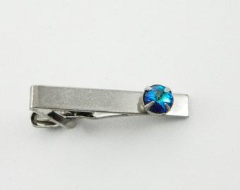 8mm Sapphire Skinny Tie Clip