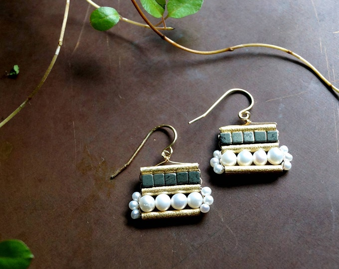 Boho geometric drop earrings