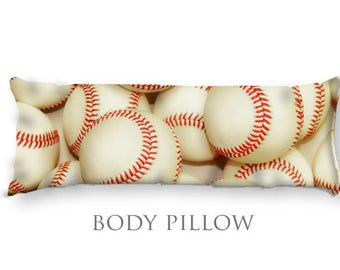 Baseball Bed Pillow-Baseball Body Pillow-Large Sleeping Pillow-Large Pillow Cover-Sports Pillow Cover-Baseball Pillow Cover-Bed Bolster