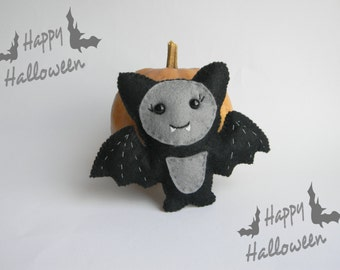 Bat  felt ornament Party favors Halloween Cute Bat Halloween ornaments Halloween decor kawaii Bat Halloween decorations felt ornament
