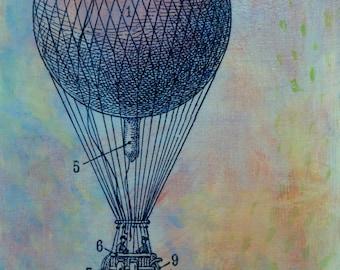 Belated Conversation, original art, fine art painting by Irene Stapleford, wantknot shop, painting on panel