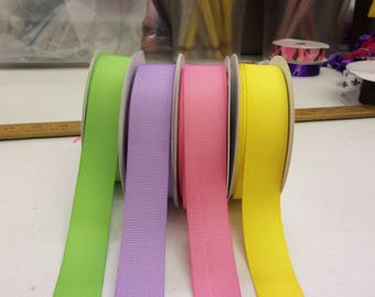 7/8 inch x 10 yds Grosgrain Spring Solids- your choice of colors