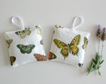 Lavender Sachets Set of 2 Natural Butterfly Organic Lavender Pillows - Mother's Day Gift - Aromatherapy - Scented Drawer Sachet
