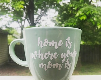 Mother's Day Gift - Mother's Day mug - Home is Where Your Mom Is - Gift for Mom - Mother's Day present - Present for Moms