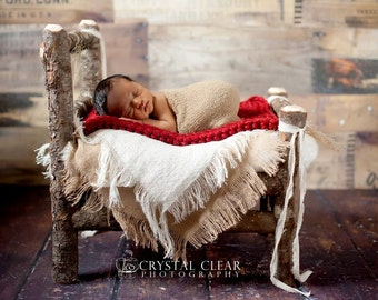 Burlap Blanket Newborn Photo Prop Baby Photography Props Layering Blanket Newborn Photo Props Baby Blanket Props