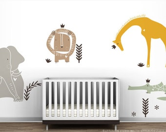 Royal Safari Wall Decal Mural by LittleLion Studio - Cereal Color