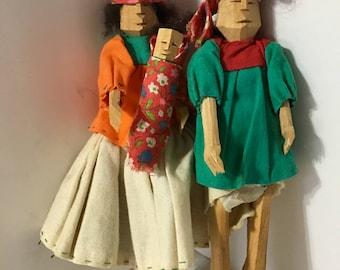 Vintage Folk Art Hand Carved Indians?
